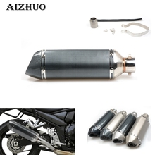 Motorcycle modified muffler carbon fiber exhaust pipe For Ducati MONSTER 400 620 695 696 796 821 1100 1200