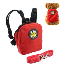 Cute Puppy Pet Backpack With 120cm Leash Outdoor Travel Portable Dog Carrier Pets Small Cats Hiking Bag