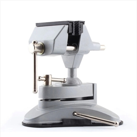 Free shipping! Osculum type Mini vise Table vice Rotate 360 degrees DIY gad tongs free shipping aluminum alloy table vice mini bench vise diy tools swivel lock clamp vice craft jewelry hobby vise jaw width 40mm