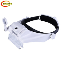 15 Zoom Ratio 3 LED Glasses Magnifier With Illumination 1.5X 2X 2.5X 3X 3.5X 8X Repair Magnifying Glass Reading Magnifier Loupe