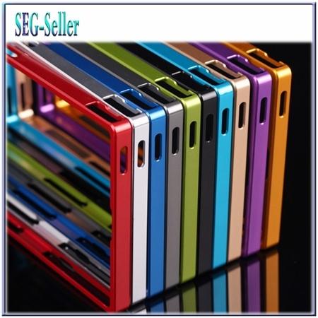 Tuke 11 cores 0.7mm ultra fina de alumínio do metal no vidro traseiro para sony xperia z ultra xl39h telefone bumper case sj0206