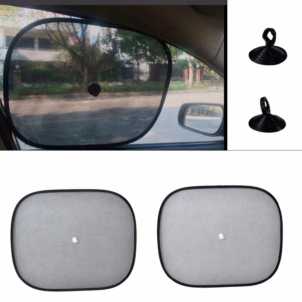 beler 2pcs Foldable Car Side Window Sun Shade Screen Visor Shield Cover Solar Protection Window Foils For VW Audi A4 A6 BMW Kia