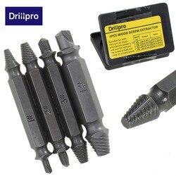 4 unids/set doble lado dañado tornillo Extractor brocas fuera perno herramienta al por mayor precio