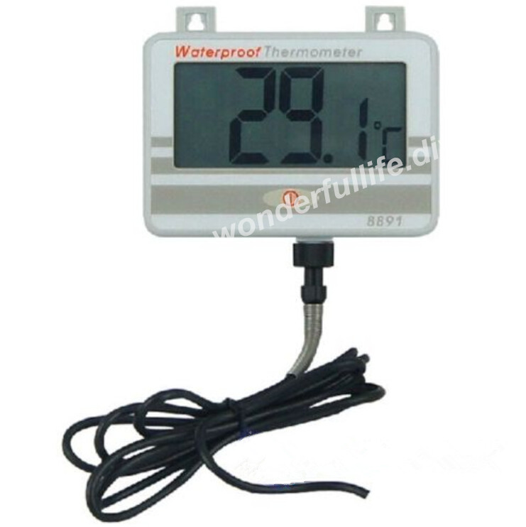 Waterproof Thermometer w/Long Probe AZ8891 Boiler Water Temperature Meter Tester AZ-8891 Brand New And Original az 8891 digital wall mounted waterproof thermometer w long probe boiler water temperature meter tester