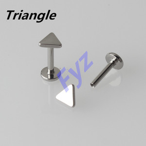 Image 3 - Different Shapes Tops G23 Titanium Internal Thread Labret Lip Piercing 16G Ear Cartilage Helix Tragus Stud Body Jewelry