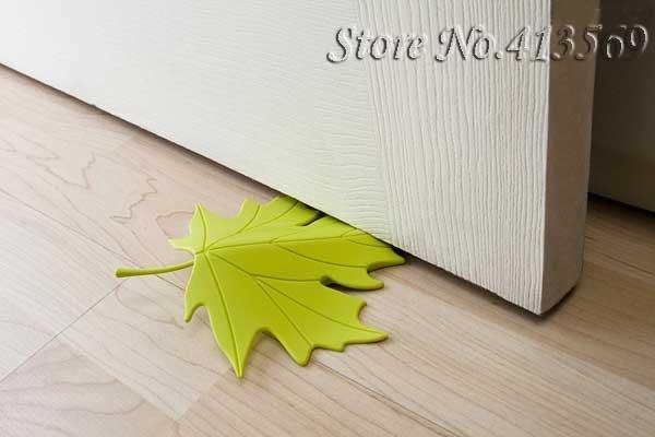 Multicolor Autumn Maple Leaf Door Stopper Loose Leaf Doorstop Home Decorative Ornament