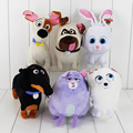 6Pcs/Lot The Animals Pets Snowball Gidget Mel Max Chloe Buddy Soft Stuffed Plush Doll Toy Action Figure For Kids Gift