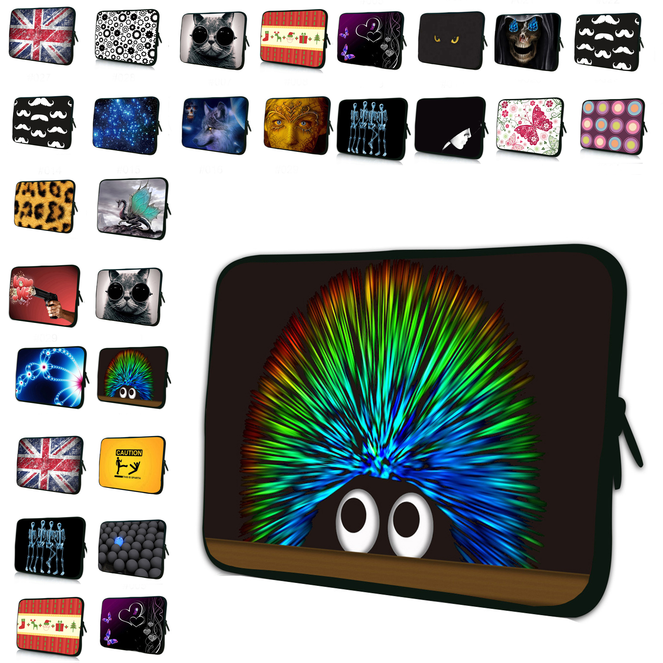 Colorful Tablet Sleeve Bag Cover Pouch Protector For Unversal 10 inch Funda Tablet For Ipad Air 9.7 Samsung Galaxy Note 10.1 Tab