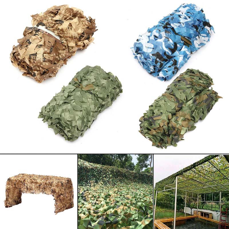 New Camo Net Woodland Camouflage Jungle Leaves With Hang Rope For Car Shade Cover Hunting Camping XD88