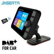 JINSERTA автомобильный DAB беспроводной Bluetooth FM радио передатчик приемник USB громкой связи с антенной большой радиус действия автомобилей mp3 плееры