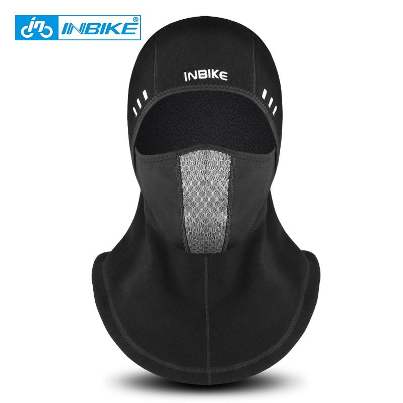 INBIKE 2018 Winter Cycling Face Mask Ski Cap Bike Face Thermal Fleece Scarf Snowboard Shield Hat Cold Headwear Bicycle Headwear все цены