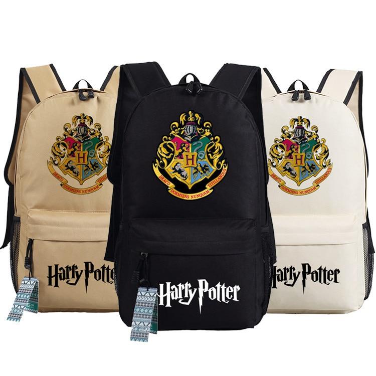 Harry Potter Backpack School Bags Book Student Bag Cosplay Hogwarts Fashion Shoulder Bag Backpacks Travel Bag for teenagers japana anime cartoon detective conan school bag teenagers detective conan luminous pattern backpacks student shoulders bags