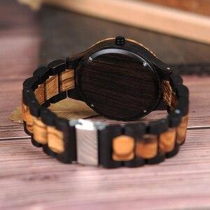 Image 5 - בובו ציפור סיטונאי קלאסי גברים של עץ שעונים שעון לוגו מותאם אישית יד שעונים גברים עם רשת לוח relogio masculino LD30 1