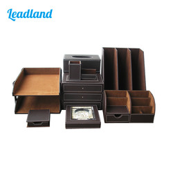 Kingfom Office Organizers  File Holder Rectangle Tissue Case Desktop Organizer Pen Holder Memo Holder T52K