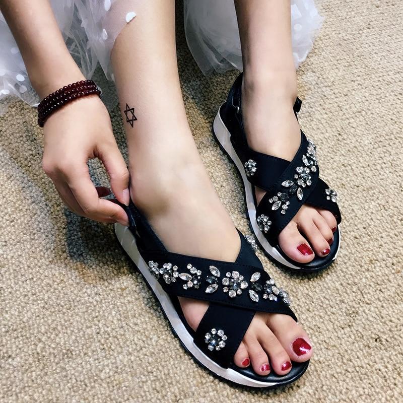 timeless design 96e1f f4b38 ... damskie vrouw sandalias New rhinestone donna buty sandals scarpe 2018  schoenen mujer summer shoes rnrqvxHCwz ...