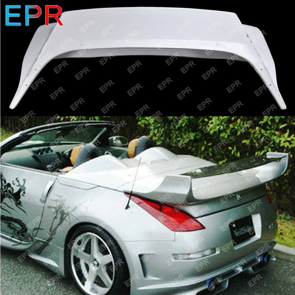 For Nissan 350Z Glass Fiber Spoiler Body Kit Car Styling Auto Tuning Part For 350z Fiberglass VS Convertible Spoiler