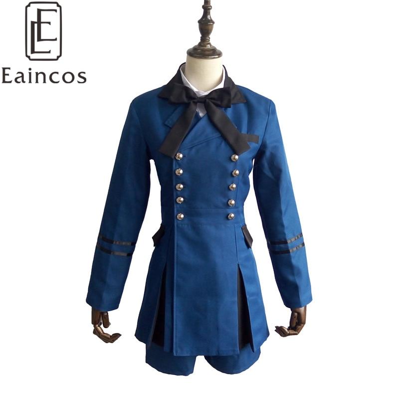 Anime Černý Butler Ciel Phantomhive Uniform Cosplay Party Kostým Modrý Suit Plné Set Vlastní Made
