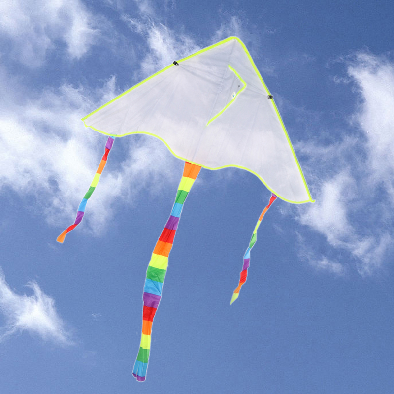 Fabric Sport Parachute Flying Papalote Toy DIY Kite Painting Kite Line Outdoor Toys Kite Fly Kite nylon ripstop without Handle