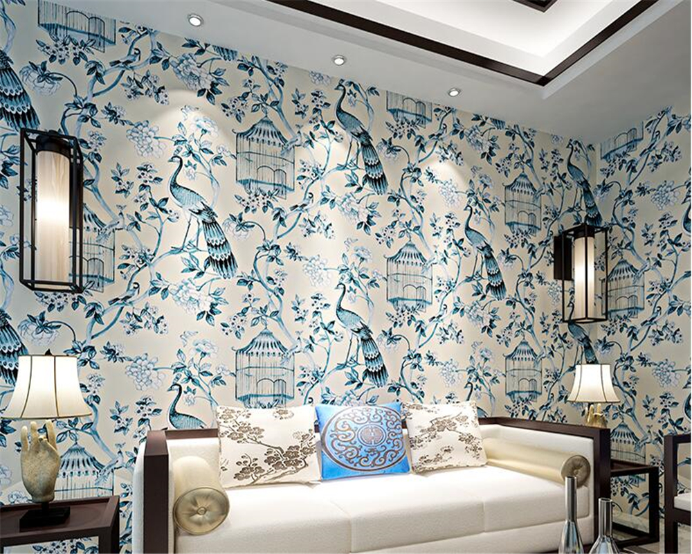 beibehang 3d wall murals Retro Chinese style mural wallpaper 3d wallpaper living room sofa bedroom bedside papel de parede 3d цена 2017