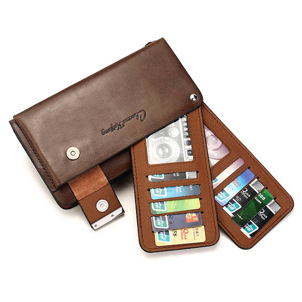 font b Men b font Business Real Genuine Leather Big Capacity Cards Holder Zipper font
