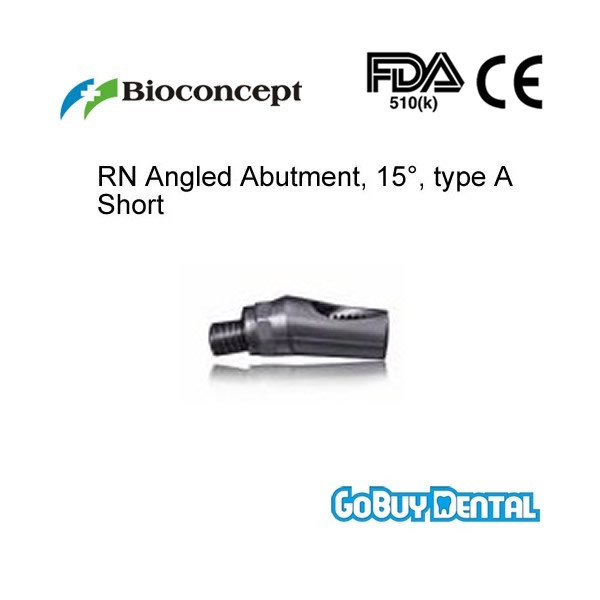 Straumann Compatible RN Angled Abutment,15 type A height 5.7mm Short Regular Neck