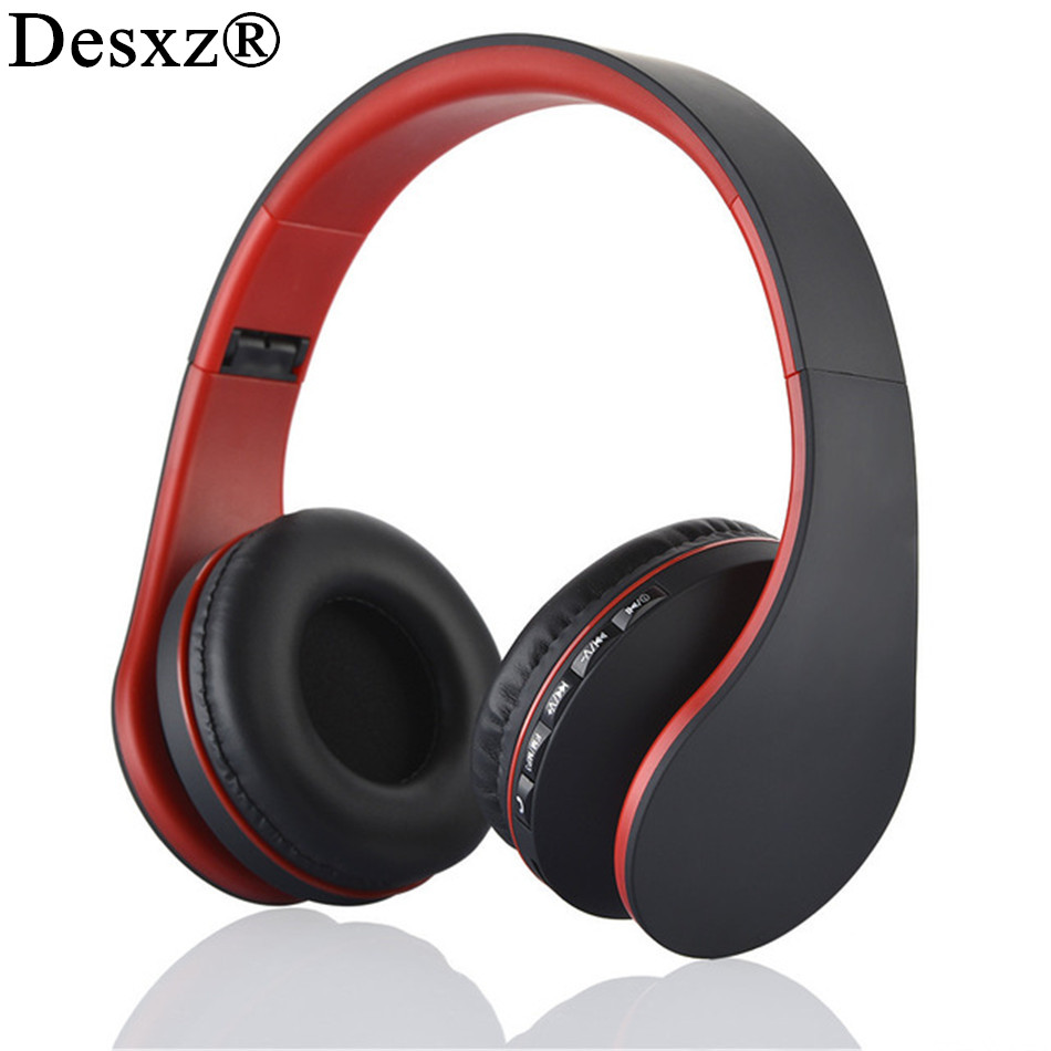 Desxz D41 4 in 1 Multifunctional Stereo Bluetooth Headphones Wireless Headset Music Earphones with Mic Audifonos for phone pc original box wireless a2dp bt h105 bluetooth 4 1 stereo headphones built in mic handsfree for calls and music headset earphones