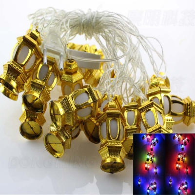 Supli 5M 20 LED Lantern Shaped Fairy String Lights Outdoor Pendent Garland Lamp Christmas Tree