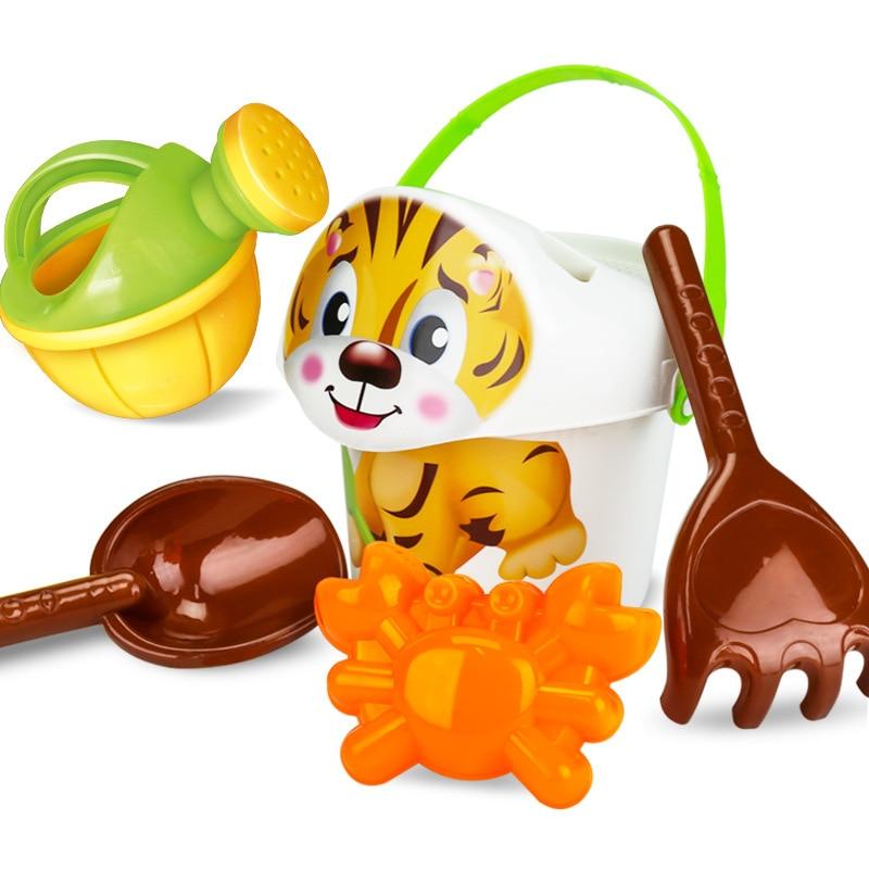 SLPF Children Beach Bucket Toys Set Play Mold For Sand Kids Digging Sand Shovel Baby Play Water Cubo Playa Juguetes Playa G09