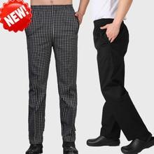 цена на Chef pants  new style kitchen chef work pants hotel hotel waiter work pants chef full pants
