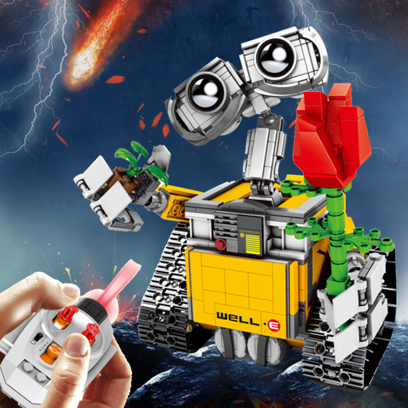 Kompatibel Creator Expert Idee Roboter WALL E Gebäude Set Kits Ziegel Fernbedienung Block Spielzeug Für Kinder Stadt-in Sperren aus Spielzeug und Hobbys bei  Gruppe 1