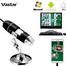 Vastar Mega pixeles 1000X 1600X 500X 8 LED Microscopio Digital cámara endoscopio USB Microscopio lupa estéreo electrónica