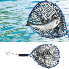 Aluminum Anti-hanging Rubber Road Asia Dip Net Catch Release Net Fish Saver Mesh For Fly Fishing Trout Kayak Boating Brand New подсак snowbee wooden sea trout net