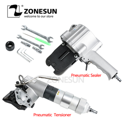 ZONESUN Free shipping KZS-40/32 Penumatic Steel Band Packing Tools Pneumatic Steel Band Sealer And Tensioner