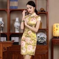 Handmade Button Chinese Style Lady Summer Dress Women S Cotton Short Cheongsam Sexy Mini Tight Qipao
