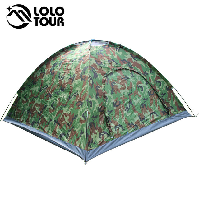 Outdoor 4 Person Camouflage Camping Tent Beach Tourist Fishing Trekking Tenda Pergola Tarp Barraca Awning Ultralight Tente
