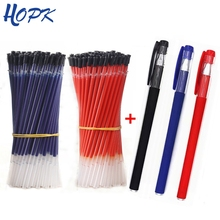 13pcs/Lot 0.38mm Office Gel Pen Refill Set Signature Pen Red Blue Black Ink Refill Rod for Handles School Supplies Stationery