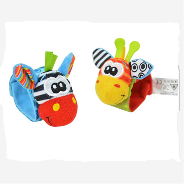 Cute Baby Socks And Wrist Rattles