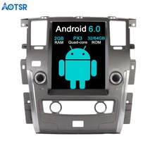 Aotsr Android 6.0 Tesla style Car No DVD Player GPS Navigation Radio for NISSAN PATROL 2010-2017 car