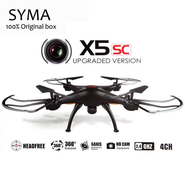 Syma x5c 2.4g 4ch 6-axis x5sc rc quadcopter helicóptero rc dron profissional drones com câmera de brinquedo para o natal