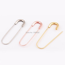 10pcs/lot metal rose gold silver color large Safety Pins brooch DIY Sewing Tools 78mm
