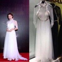 Модные женские модельные пикантные белые пари вечерние платья Женская Одежда Свадебные Длинные платья роковой одежды одежда