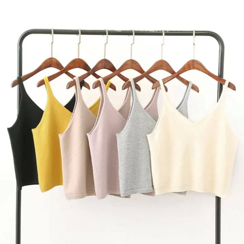 Summer Beach Wear 6 Colors Knit Tank Top Women Sexy Slim Casual Summer Top 2018 Fashion Ribbed Sleeveless Tank Top