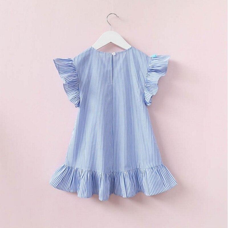 Famille correspondant vêtements neuf quart rayure gland Mini robe maman et fille robe d'été tenues mère et fille vêtements 2