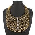 Multilayer Retro hoop coleção de acessórios pingentes colares moda Gypsy para colar gargantilha mulheres jóias