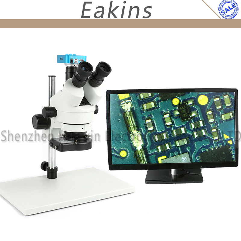 цена HD 1080P 16MP HDMI USB 60/FPS Video Camera simul-focal Trinocular Stereo Continues Zoom 3.5-90X Microscope For Repair IPhone PCB