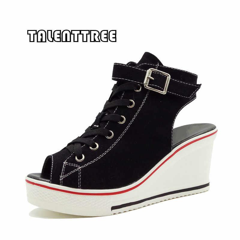 35b401ce032d New Summer Wedges Canvas Shoes Woman Platform Sandals Ladies Open Toe  Breathable Shoe Women Casual Shoes