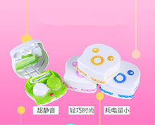 LIUSVENTINA Portable Cute Expression Type Electric Automatic Contact Lens Case Washer Box Cleaner for Color Lenses Gift for Girl(China)