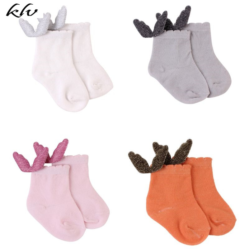 New Children Kids Socks Baby Plush Wings Breathable Sweat Absorbing Cute Boys Girls Clothing Accessories Unisex