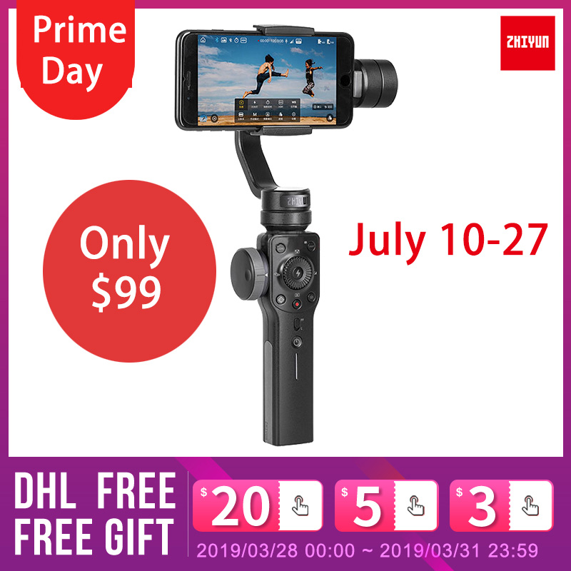 Zhiyun Smooth 4 Q 3 axis Handheld Gimbal Stabilizer for smartphone iPhoneX action camera gopro4 5
