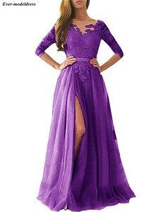 Image 4 - Robe de demoiselle dhonneur rose Sexy, coupe trapèze, dos nu, manches longues, longueur au sol, robe dinvités de mariage, robe de soirée de bal, 2020